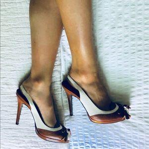 Lauren Ralph Lauren Oxford Leather Slingbacks